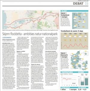 Debatindlæg i Ringkøbing-Skjern Dagbladet af Rune Engelbreth Larsen