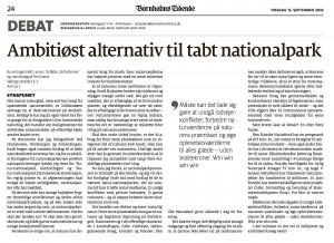 Debatindlæg i Bornholms Tidende den 13.9.2016