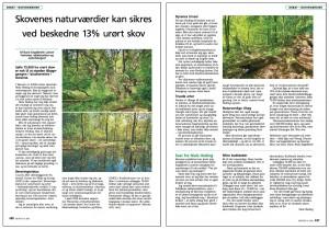 Replik om urørt skov af Rune Engelbreth Larsen i Skovforeningens tidsskrift 'Skoven'