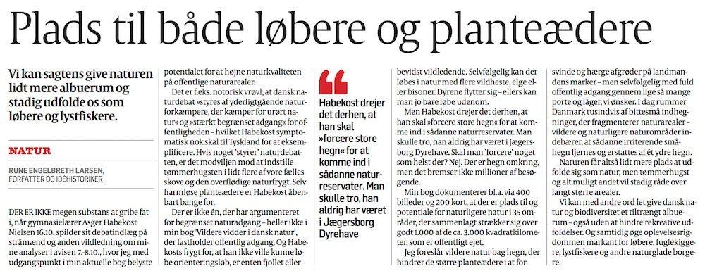 Replik af Rune Engelbreth Larsen, Politiken 20.10.2017