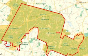 Centrale dele af Natura 2000-område nr. 186 ligger inden for den foreslåede afgrænsning af Naturnationalpark Almindingen