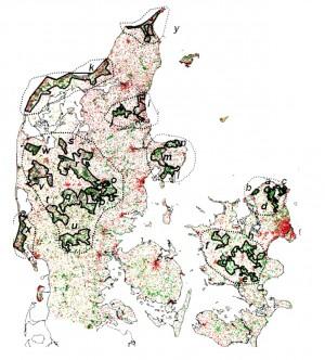Rapporten 'Elg i Danmark' (Sunde & Olesen 2007) anfører, at der naturmæssigt er plads til en dansk elgbestand på samlet set knap 4.400 elge under hensyntagen til eksisterende bestande af rådyr og krondyr. Det centrale Jylland kunne oppebære ca. 2.000 – i dette område er inkluderet dele af nærværende afgrænsning (område v på kortet – klik for at se det i højere opløsning)