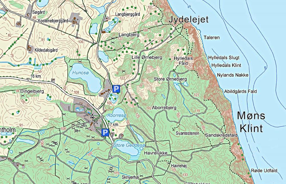 Kort over Jydelejet (indeholder data fra Geodatastyrelsen, Matrikelkortet, WMS-tjeneste)