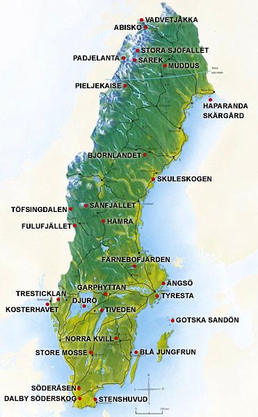 Nationalparker i Sverige