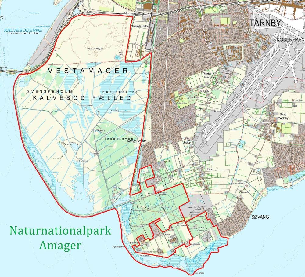 Forslag til rammerne for Naturnationalpark Amager. En opgradering af naturprioriteringen i den eksisterende Naturpark Amager