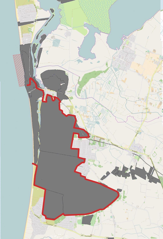 Den foreslåede afgrænsning af Naturnationalpark Blåbjerg & Nyminde dækker et areal, der er statsejet, og som med tiden rummer muligheder for udvidelser mod nord (hvor Hjemmeværnet i dag har et øvelsesterræn)