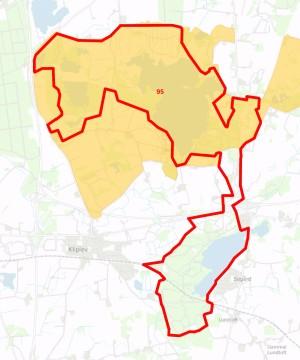 Forslag til Naturnationalpark Bjergskov & Hostrup Sø overlapper store dele af Natura 2000-område nr. 95