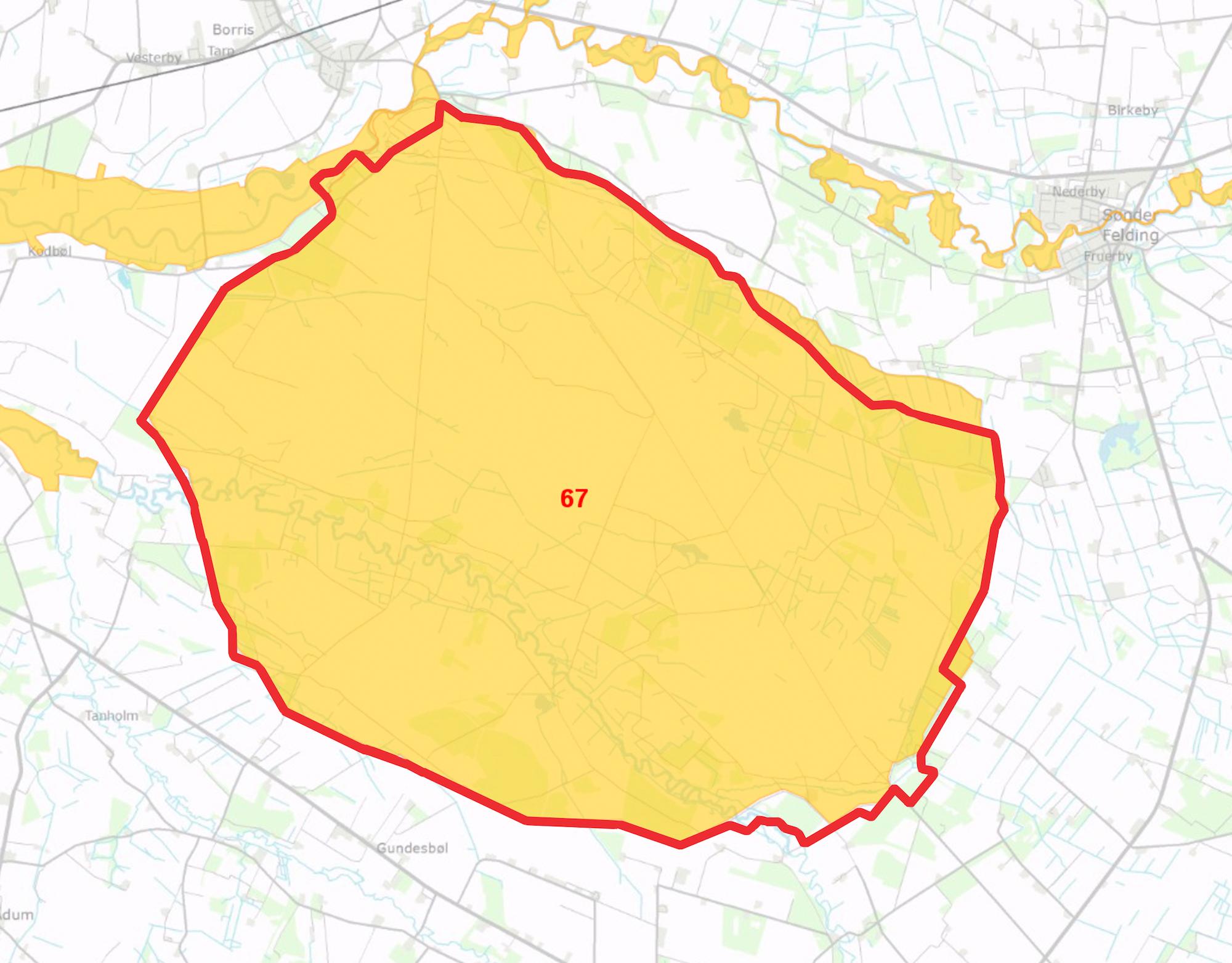 Naturnationalpark Borris overlapper hovedparten af Natura 2000-område nr. 67.