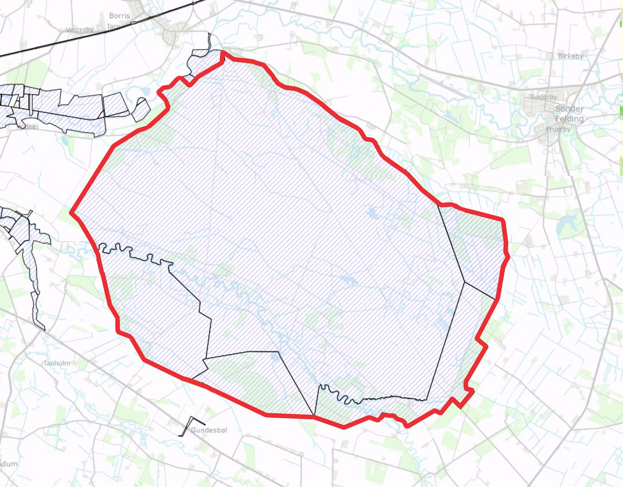 Hele den foreslåede afgrænsning af Naturnationalpark Borris er ejet af staten, nærmere bestemt af Forsvarsministeriet.