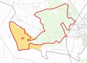 Natura 2000-område nr. 97 er næsten dækket ind af forslaget til afgrænsningen af Naturnationalpark Frøslev Skov & Mose