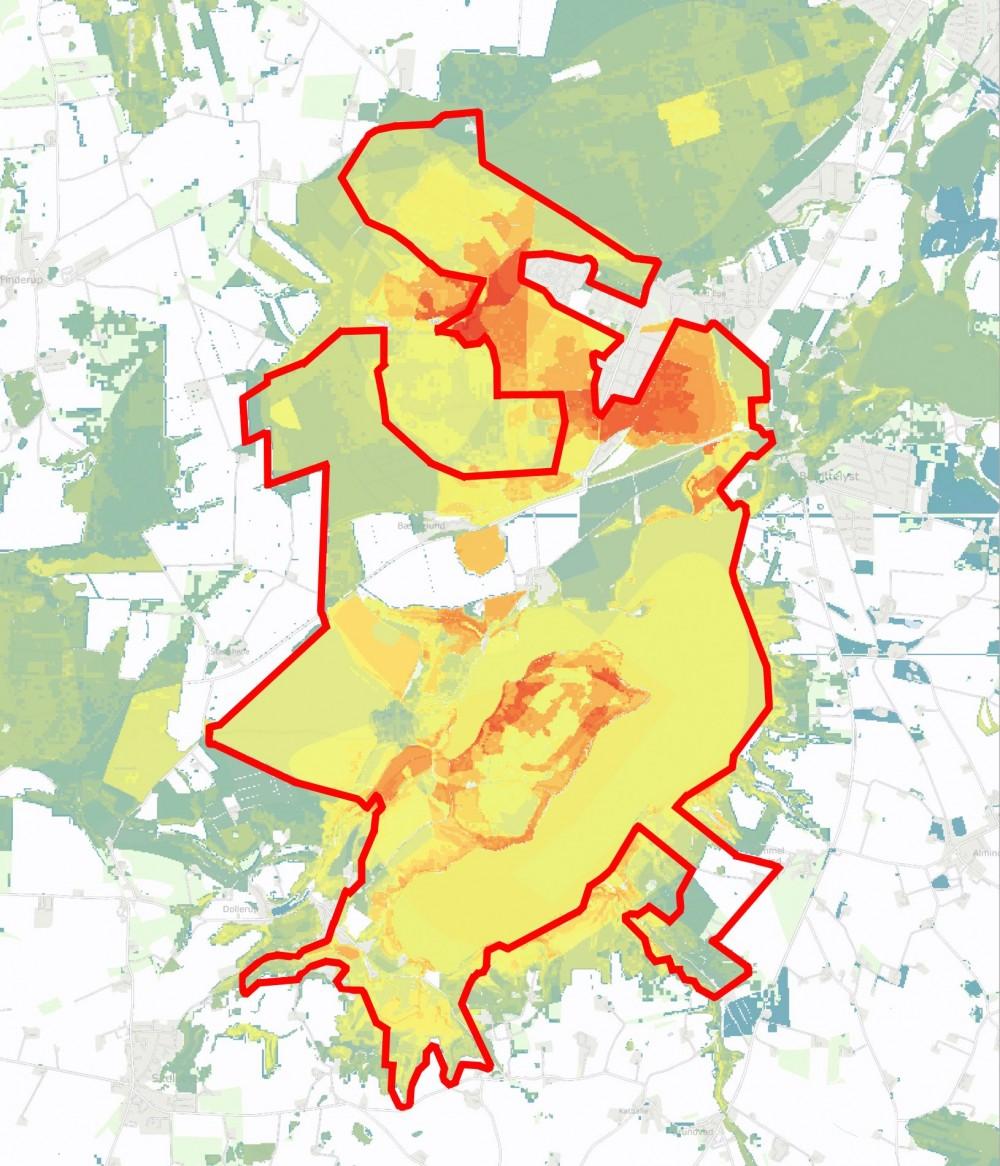 Forslaget til Naturnationalpark Hald Sø & Dollerup Bakker rummer arealer med høj artsscore – og spredningspotentiale