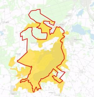 Natura 2000-område nr. 35 overlapper forslaget til en afgrænsning af Naturnationalpark Hald Sø & Dollerup Bakker
