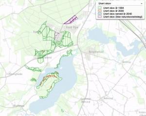 Der er alt for lidt urørt skov i Danmark, men inden for det afgrænsede område finder man et af de få forholdsvis sammenhængende skovområder uden tømmerproduktion syd for byen Hald Ege