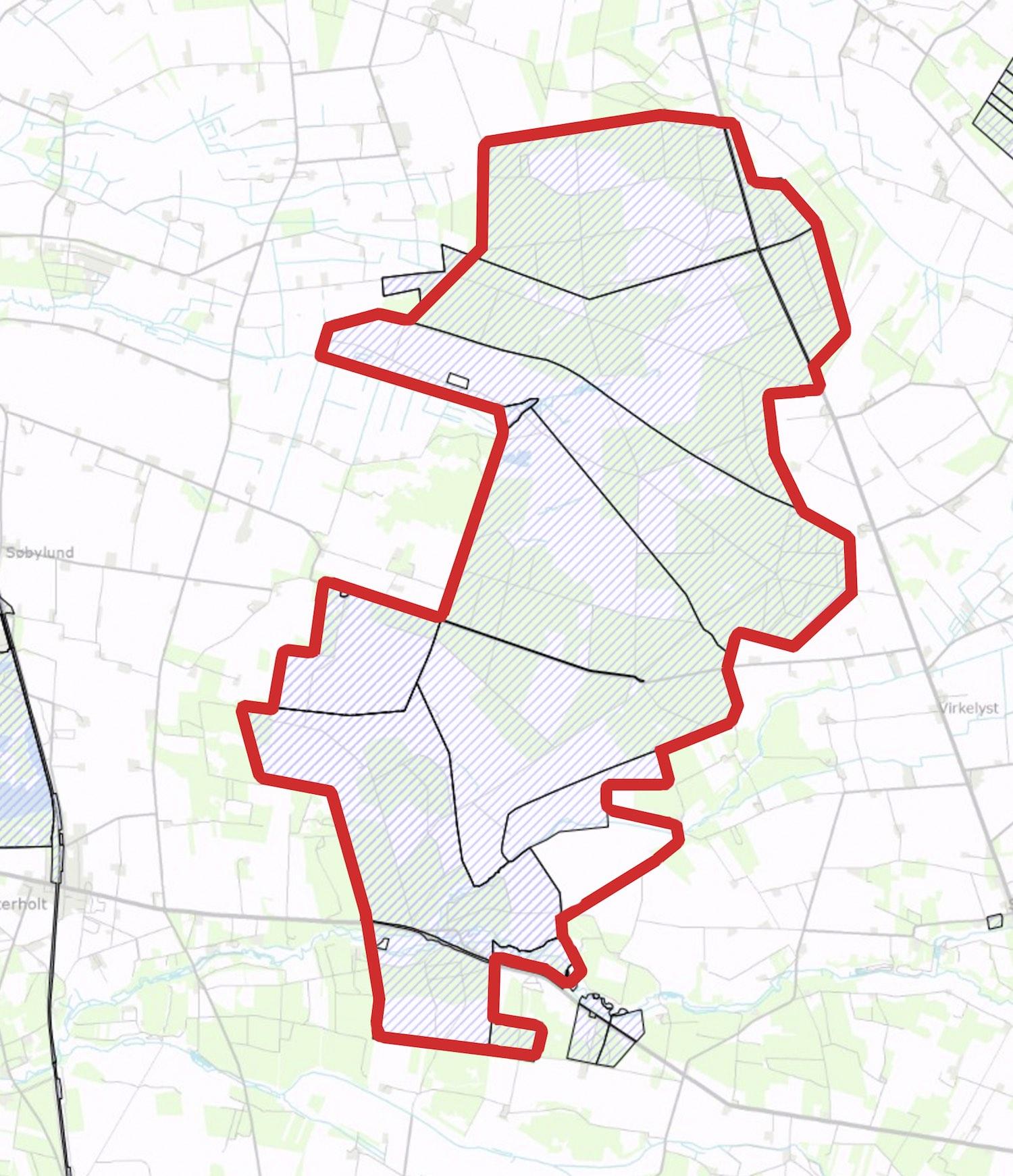 Staten ejer stort set hele det areal, der foreslås som Naturnationalpark Harrild Hede & Nørlund Skov bortset fra ca. 70 hektar, som med fordel kunne opkøbes i tilknytning til Harrild Hede