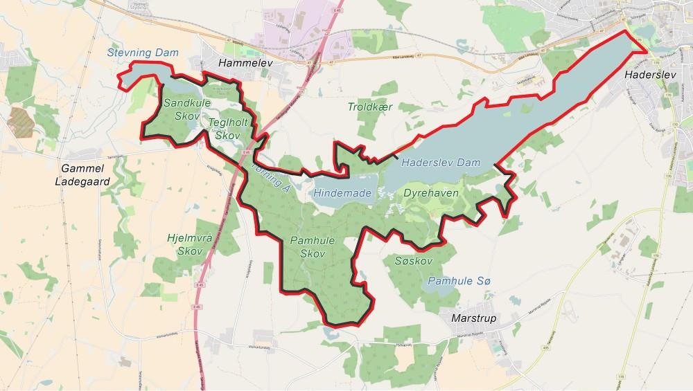Forslag til hegnslinje af ca. 21 kilometers længde – eventuelt i to etaper, første del øst for Sønderjyske Motorvej (ca 16 km), anden del vest for (ca. 5 km), forbundet af en faunapassage