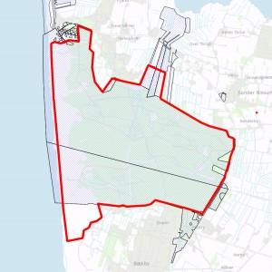 Statsejede arealer inden for den foreslåede afgrænsning af Naturnationalpark Husby Kyst & Skov
