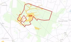 Natura 2000-område nr. 224 er stort set inkluderet inden for rammerne af forslaget til Naturnationalpark Klosterheden