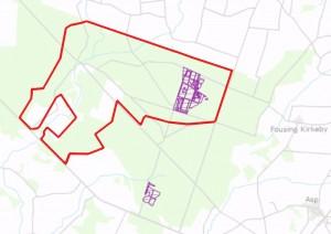 Der er meget lidt urørt skov i dag i Klosterhedeplantagen (lilla skraveringer) – den største andel inden for forslaget til Naturnationalpark Klosterheden