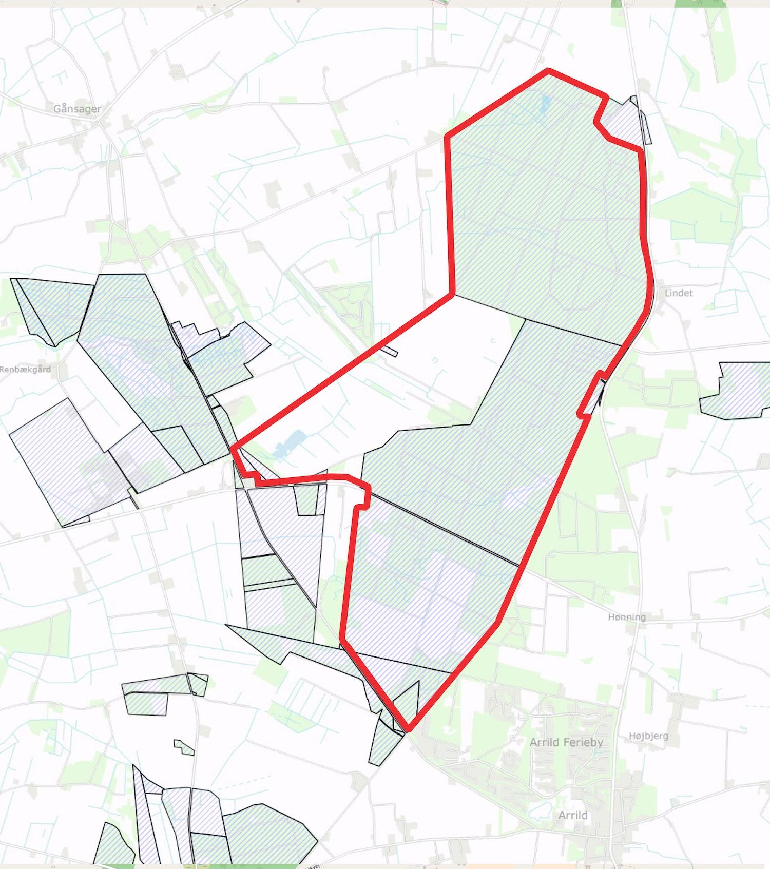 Afgrænsningen af Naturnationalpark Lindet Skov & Hønning Mose består af ca. 82 procent statsejede arealer – Hønning Mose er imidlertid privatejet og bør opkøbes eller inkluderes gennem permanente aftaler på biodiversitetens præmisser.