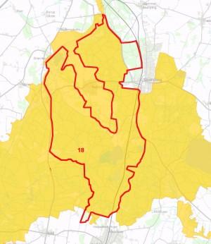 Centrale dele af Natura 2000-område nr. 18 ligger inden for den foreslåede afgrænsning af Naturnationalpark Rold Skov & Rebild Bakker