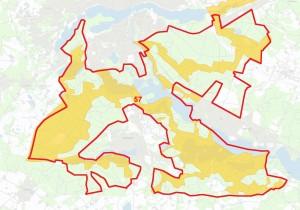 Den foreslåede afgrænsning af Naturnationalpark Søhøjlandet overlapper store dele af to Natura 2000-område nr. 57