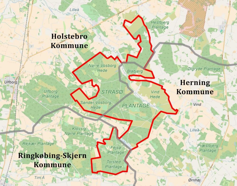 Naturnationalpark Stråsø Skov & Vind Hede vækker ind i hele tre kommuner og kunne blive et stort og amtibiøst fælleskommunalt projekt mellem Holstebro, Herning og Ringkøbing-Skjern kommuner – måske med Herning Kommune som primus motor, eftersom det største areal og de største naturværdier findes dér ...