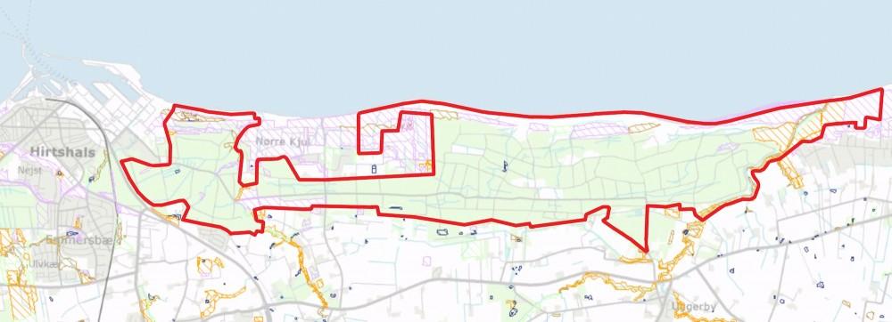Paragraf 3-arealer inden for den foreslåede afgrænsning af Naturnationalpark Uggerby & Lilleheden