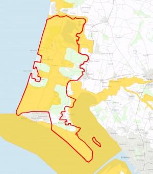 To Natura 2000-områder overlapper forslaget til en afgrænsning af Naturnationalpark Vesterhavet (nr. 84 i den nordlige del og nr. 89 i den sydlige)