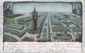 Den store kaserne, som i begyndelsen af 1900-tallet blev etableret i Döberitzer Heide (bygget af tømmer fra det skovrydninger i område).